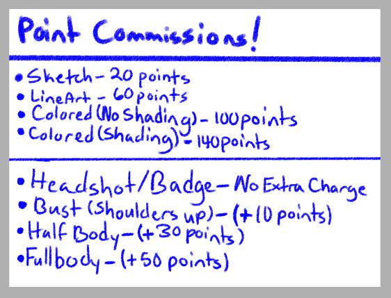 Point Commissions Open! by ForsakenHowl5683