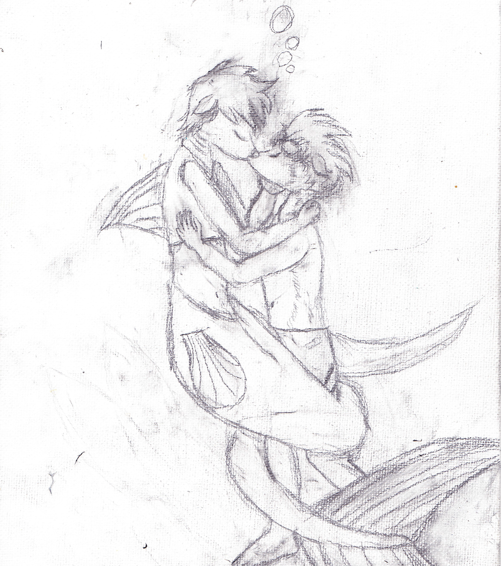 Line Drawing Kiss : An underwater kiss lineart by thrashmetallix on deviantart