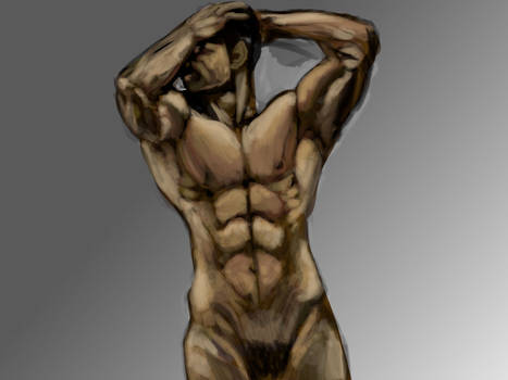 Nude Male Pose Study by mechaguy