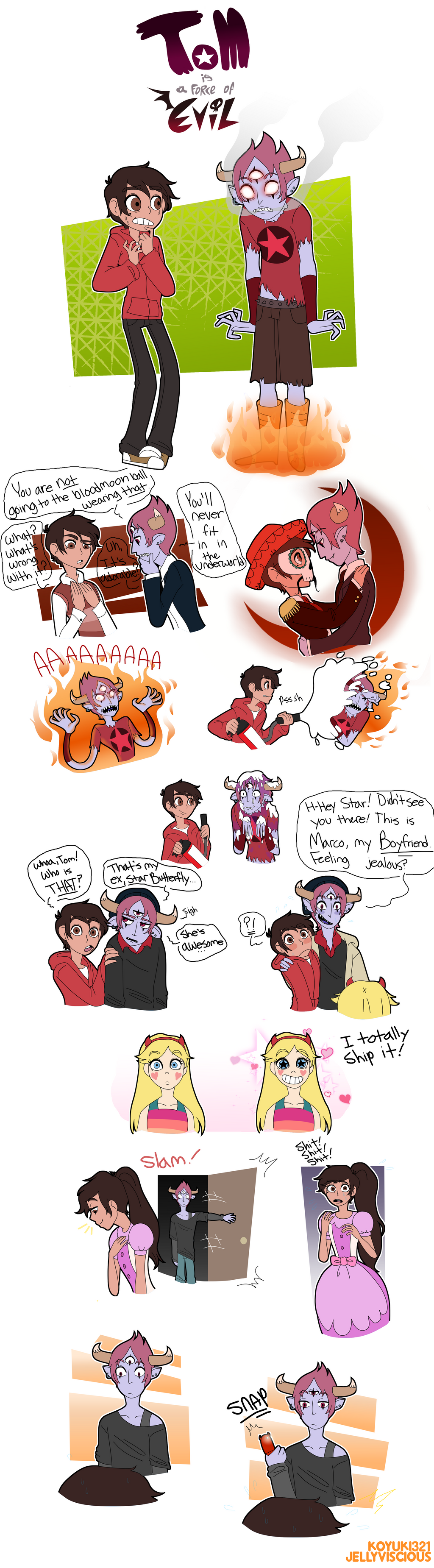 Awesome edit for Bad boy Marco and good girl Star au | Star vs las ...
