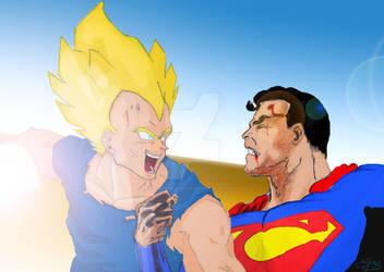 Vegeta VS Superman
