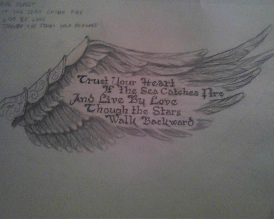 Angel Wing and Poem by SlevinBlaze821 on DeviantArt
