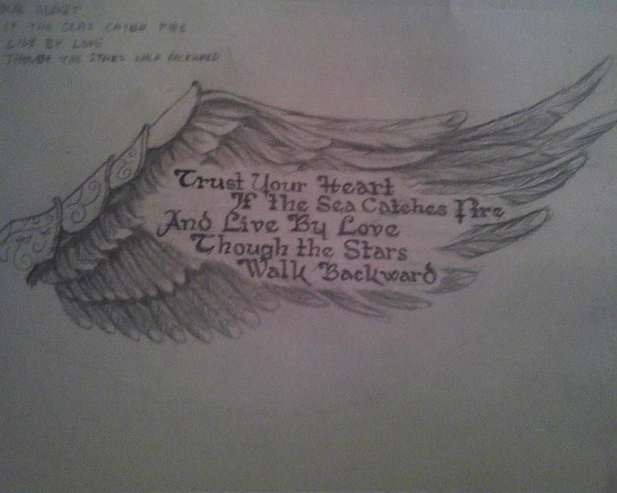 Angel Wing and Poem