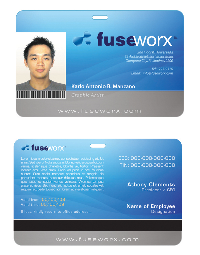 Custom Card Template » Pvc Id Card Template - Free Card Template