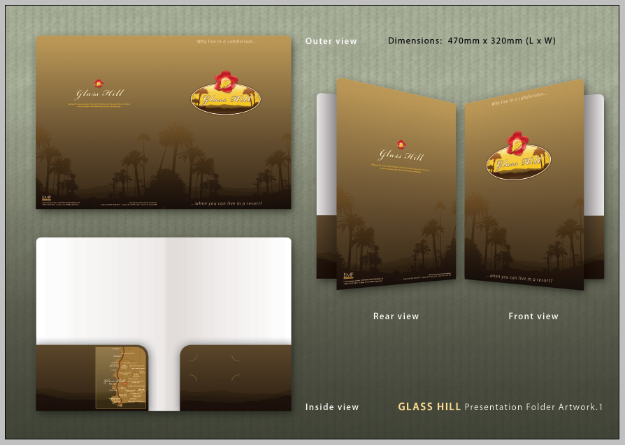 Glass Hill Presentation Folder by tambraxx