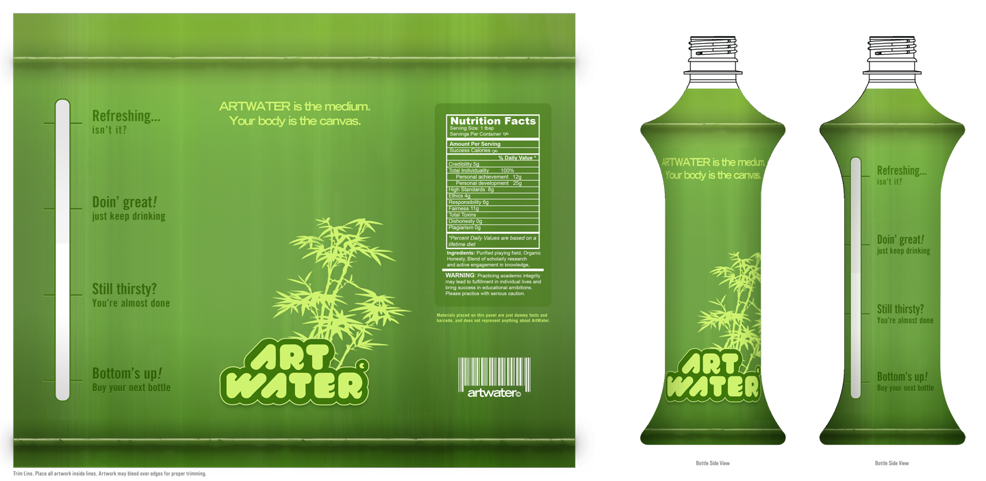 ArtWater Label: Bamboo Water by tambraxx
