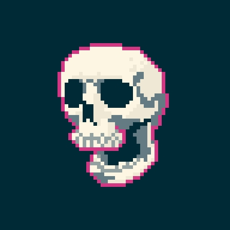 Skull pixel practice by The-Mekgineer