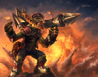 Goblins vs. Gnomes - Goblin Bolt Warhead Launcher by SpineBender