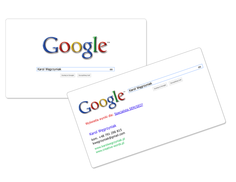 Google Business Card by karollorak on DeviantArt