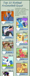 Top 10 Good-looking Males from MLP by Funsizefluffy
