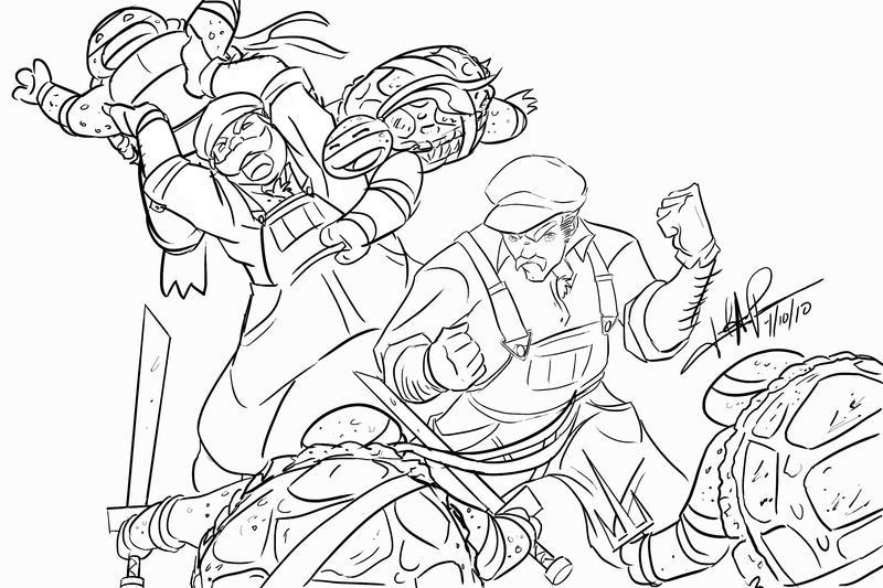 Mario vs. Ninja Koopa Troopas by Chemsem on DeviantArt