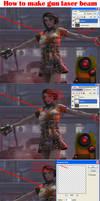 How to make gun laser beam