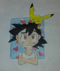 Ash and Pikachu by ChibiAsh07