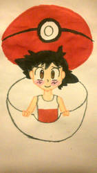 Ash in a Pokeball by ChibiAsh07