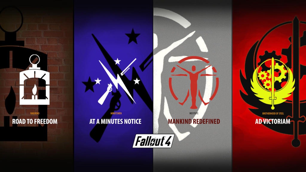 Fallout 4 FACTIONS Wallpaper By ToinC