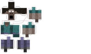Papercraft Herobrine by supersaiyanarbiter