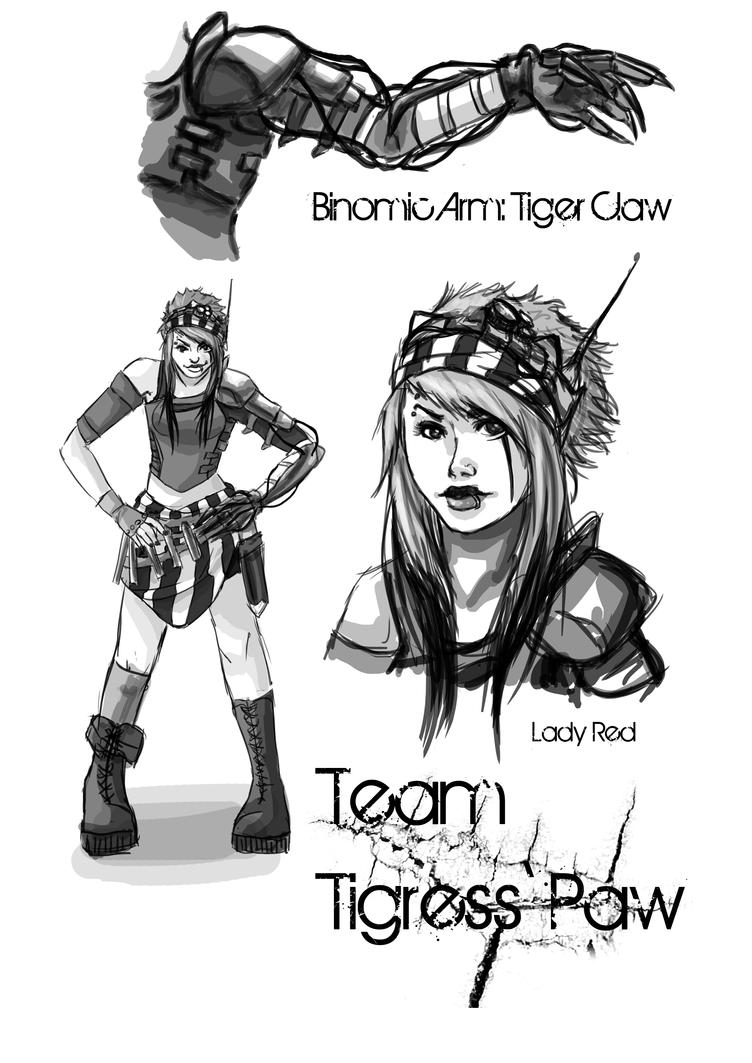 Team Tigress' Paw by Mangamania13