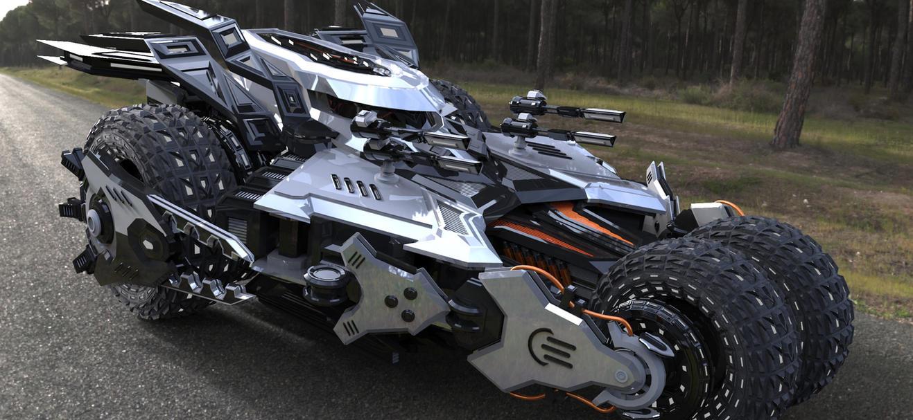 4 wheel armored car (Render Version) by pauldavemalla
