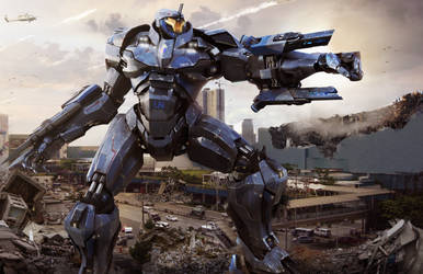 Astrion - M5 Jaeger (  Pacific Rim ) by pauldavemalla