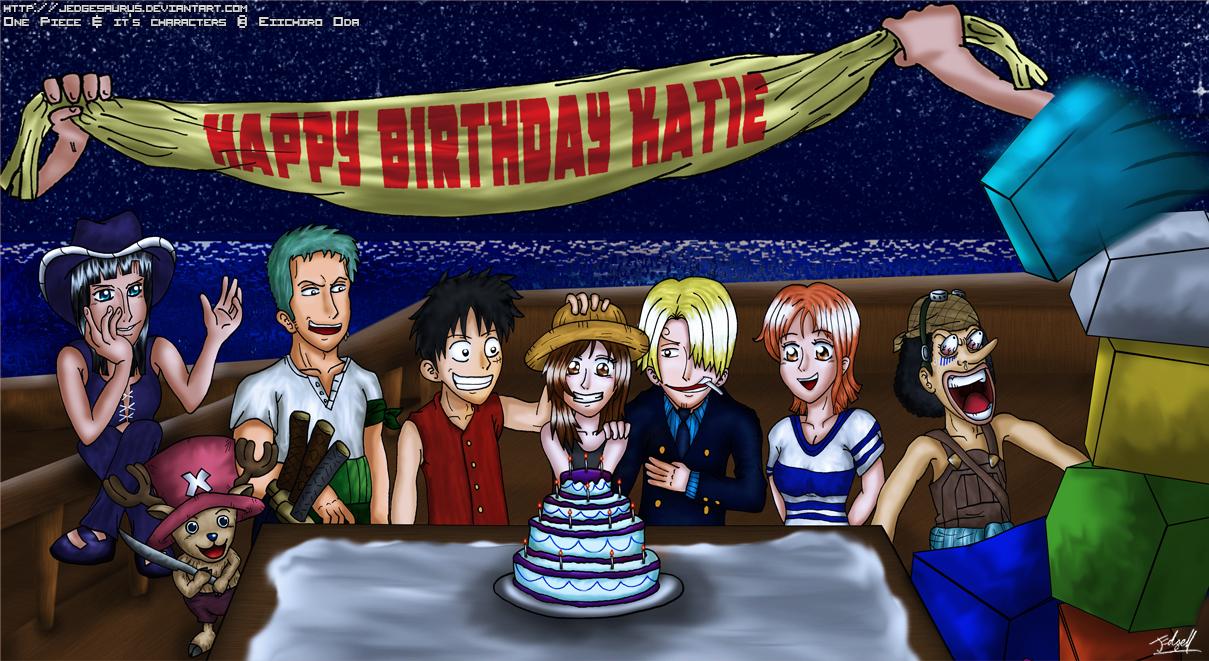 One Piece Birthday Card by Jedgesaurus