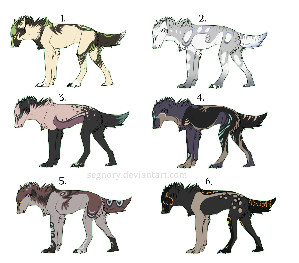 Wolves adoptables - Points auction ! ENDED by Eredhys