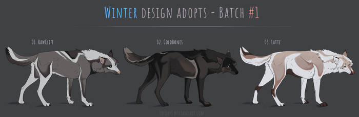 [ONE LEFT] Canine winter adopts - batch #1