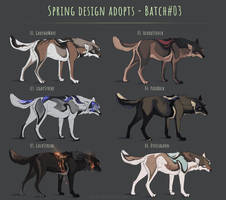 [CLOSED] Canine spring adoptables - Batch #03