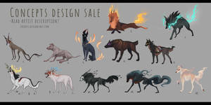 [CLOSED] Concept designs for sale