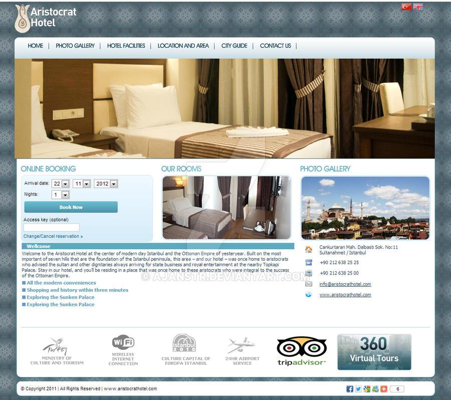 Aristocrat Hotel Web Desing by AjansTR