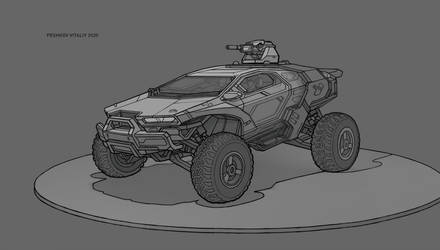 Off-road vehicle concept (urban assault vehicle) by Ganibhal