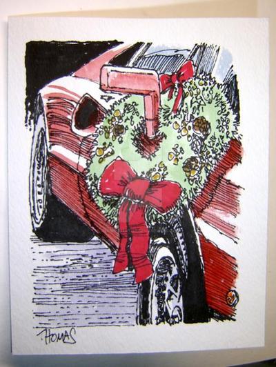 Ferrari christmas card gto by ferrariartist on deviantart for Ferrari christmas