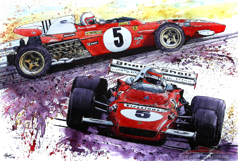 #5 Ferrari 312B2 by ferrariartist