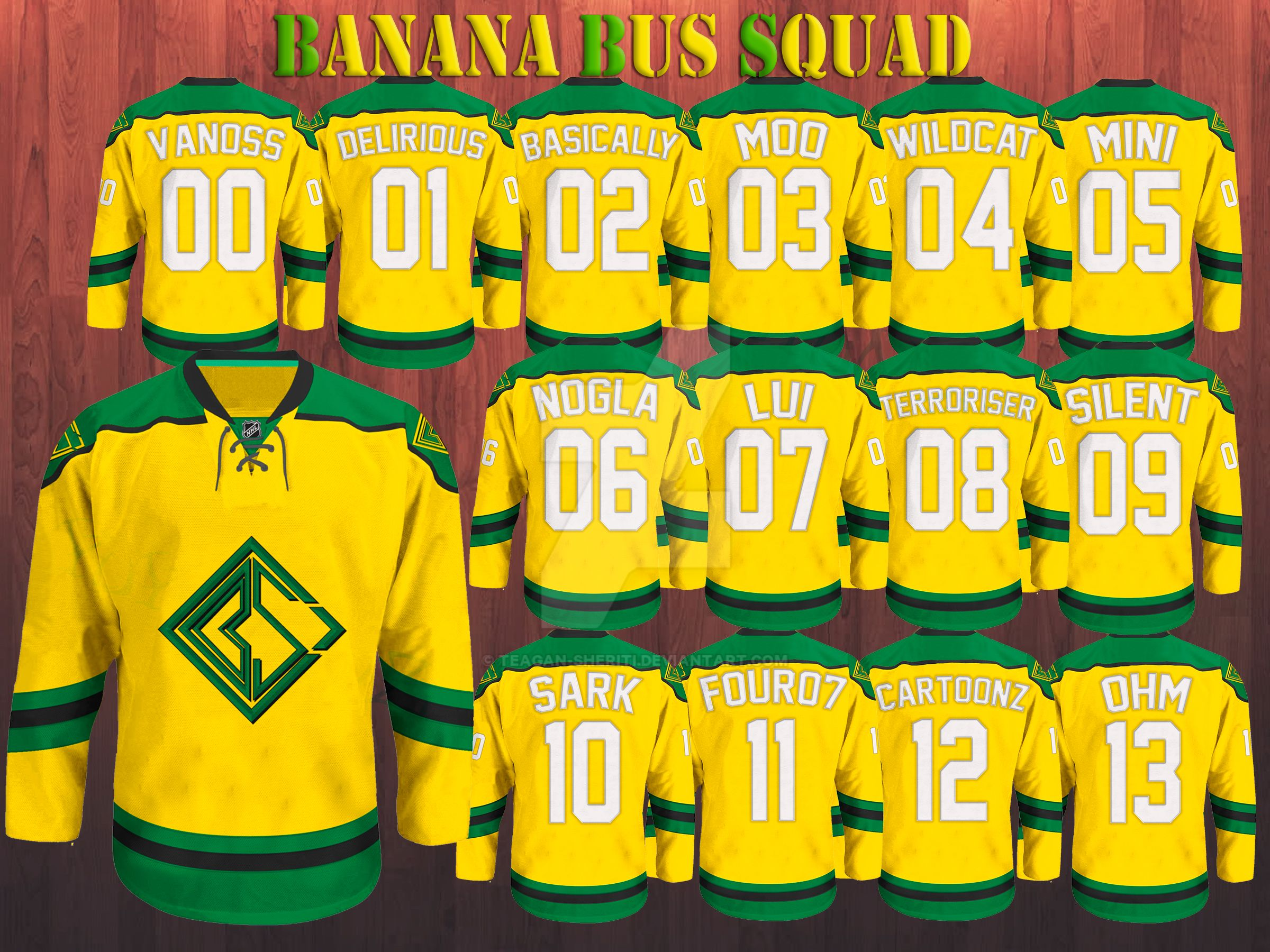 NHL Banana Bus Squad Jersey by Teagan-Sheriti on DeviantArt H20 Delirious