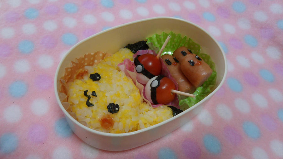 Pikachu bento by minicuteclub