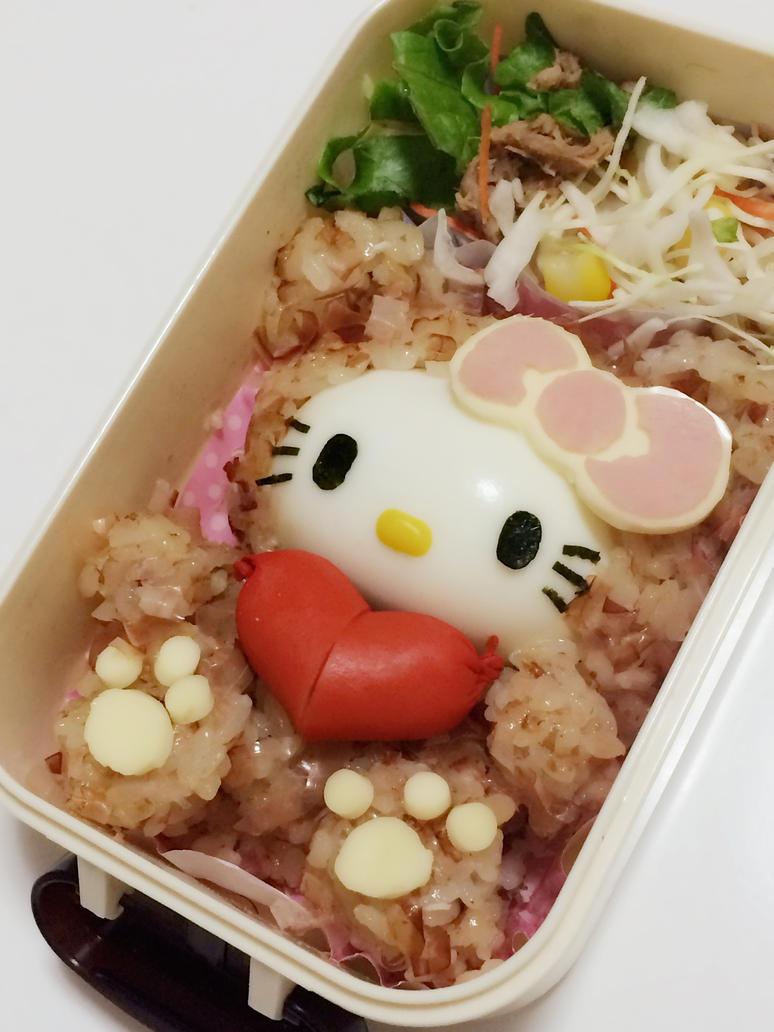 Hello Kitty Bento (with tutorial) by minicuteclub