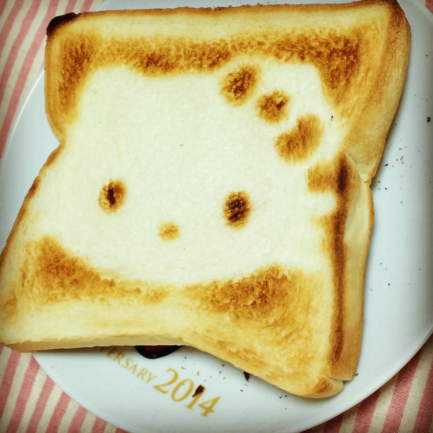 DIY hello kitty toast by minicuteclub