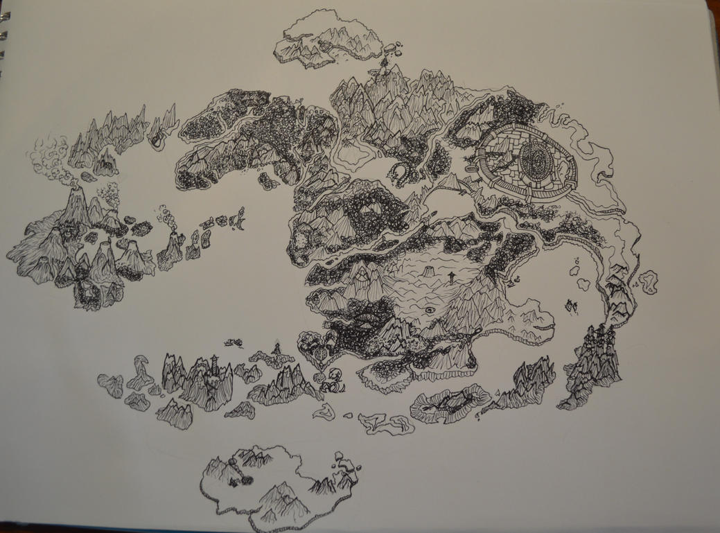 Map of the World of Avatar in Fineliner by Glumbiemon24 on DeviantArt