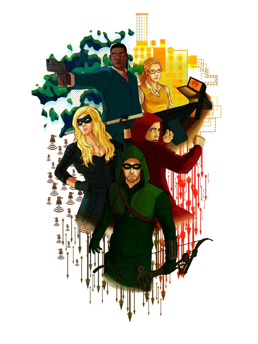 Team Arrow Poster season 2 by destro101