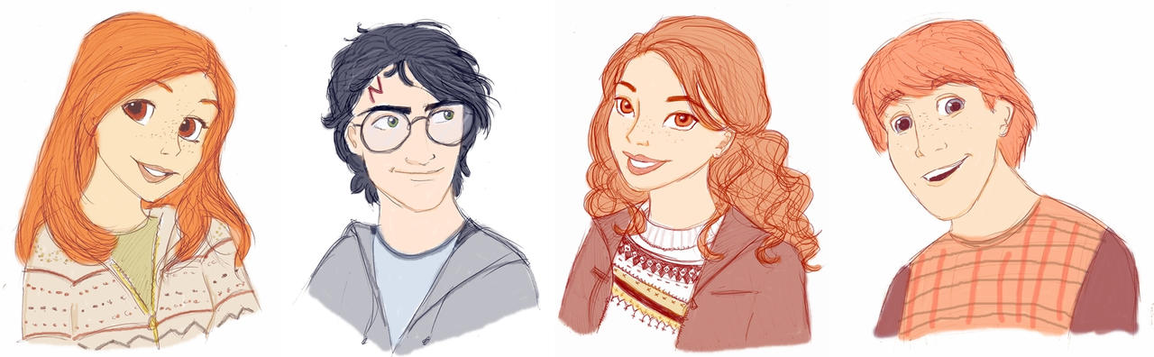 One Big Happy Weasley Family by Bamiebal on DeviantArt