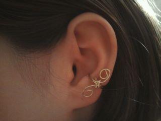 Simple Swirl Ear Cuff by HalNicci