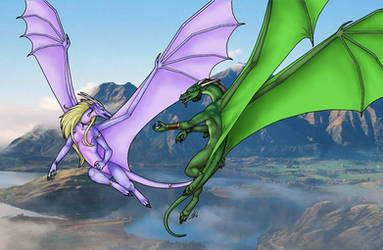 Dragon Flight by sidian