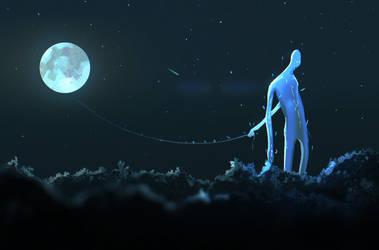 moon by cgartMan5ON