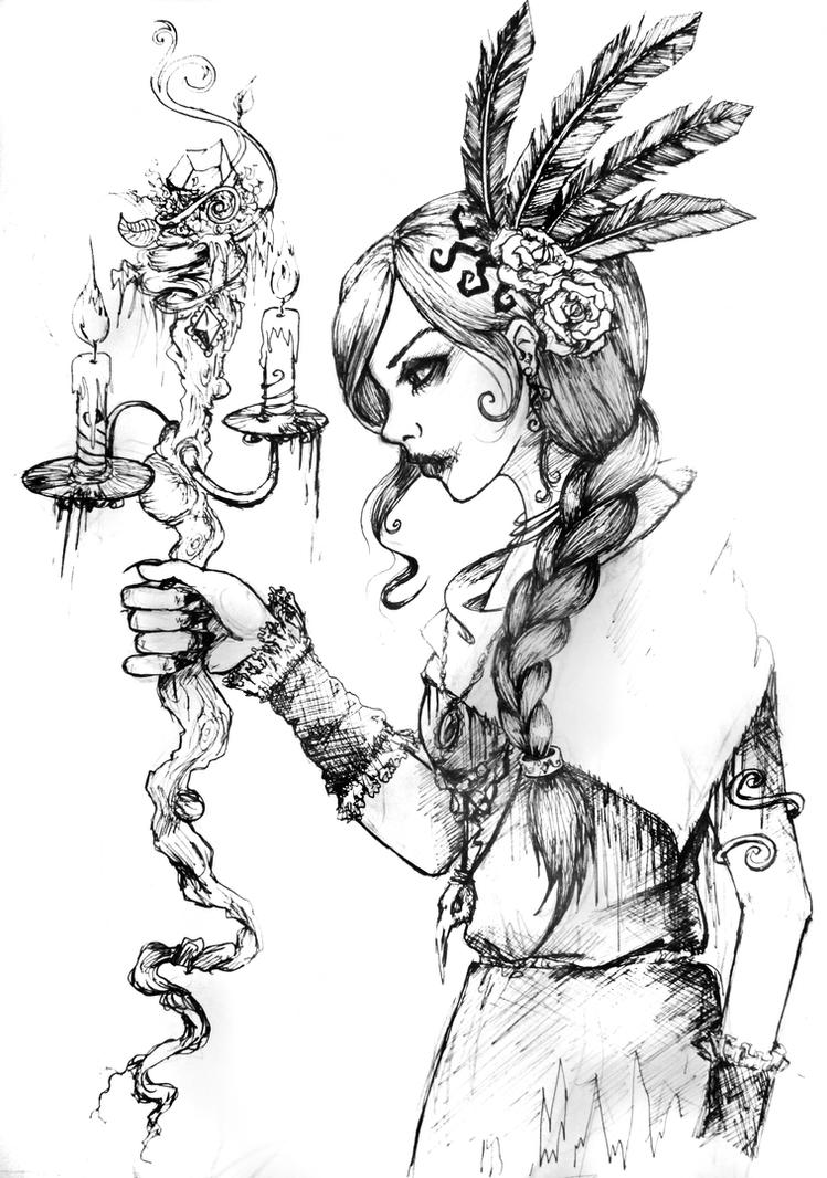 Witch lineart by Kissa-TR