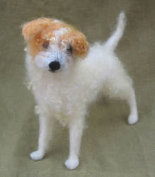 Felted Dog, scruffy mutt