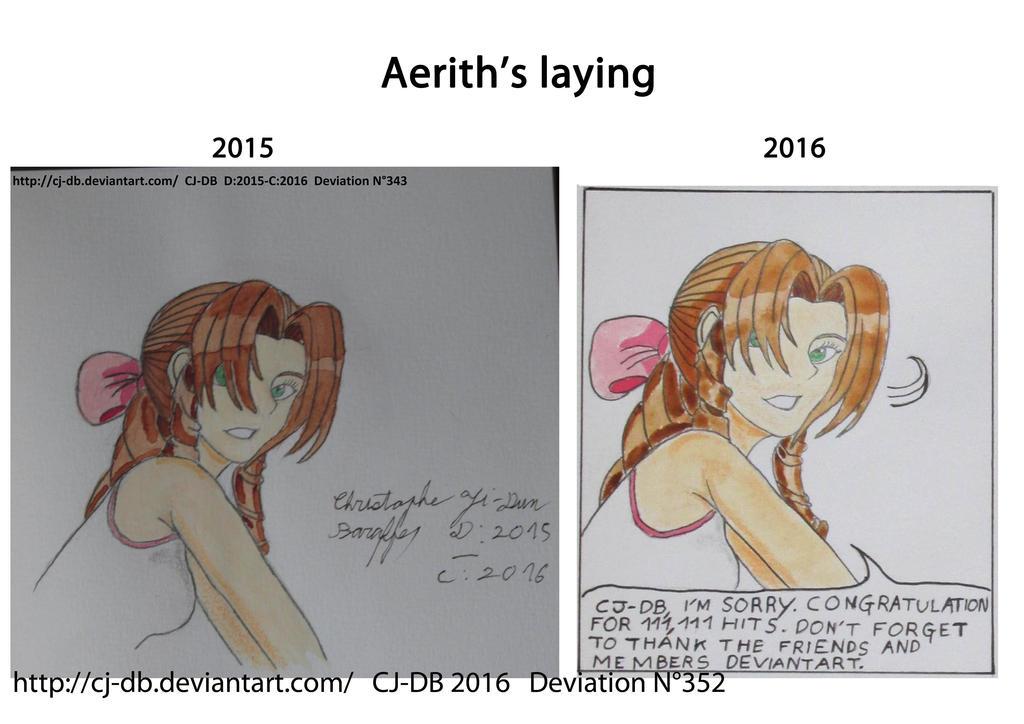 Aerith's laying by CJ-DB