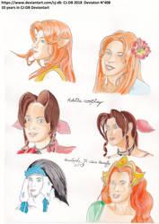 10 years   6 Adella's portraits by CJ-DB