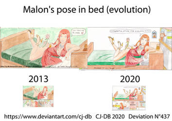 Malon's pose in bed evolution