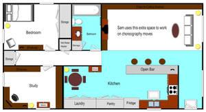 Sam's Apartment Floorplan