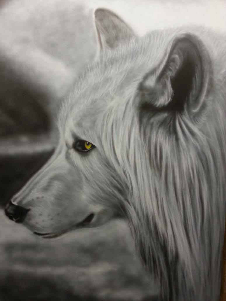 Airbrushed wolf by elsje18