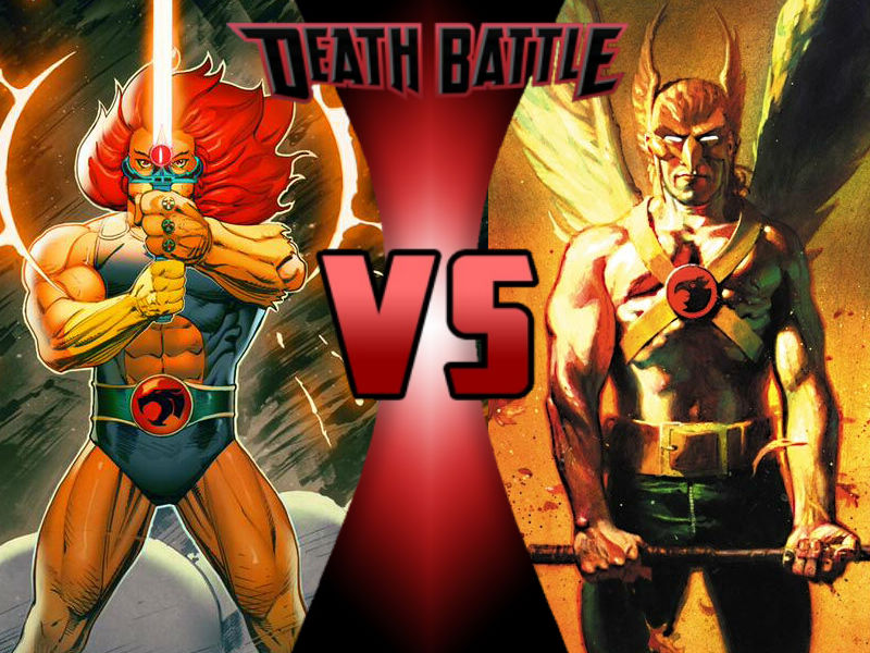 Lion-O vs Hawk Man by ToxicMouse77